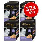 Lot Miamor Filets Fins Mini sachets fraîcheur 32 x 50 g pour chat