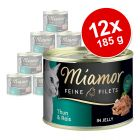 Lot Miamor Filets Fins 12 x 185 g pour chat