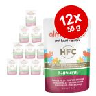 Lot mixte Almo Nature HFC Natural 12 x 55 g pour chat