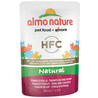 Lot mixte Almo Nature HFC 12 x 55 g pour chat