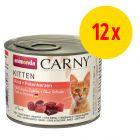 Lot mixte Animonda Carny Kitten 12 x 200 g pour chaton