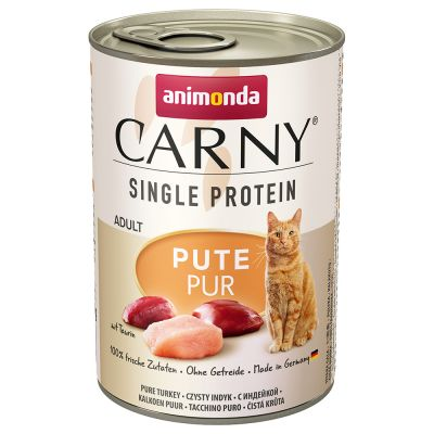 Lot mixte Animonda Carny Single Protein Adult 6 x 400 g pour chat