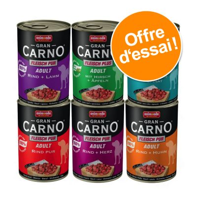Lot mixte Animonda GranCarno Original Adult 6 x 400 g