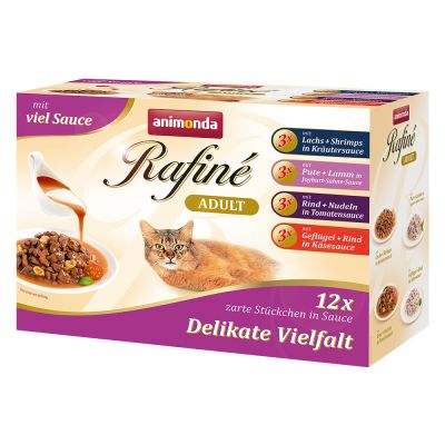 Lot mixte Animonda Rafiné 12 x 100 g pour chat
