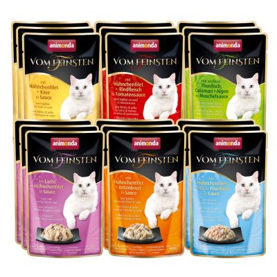 Lot mixte Animonda vom Feinsten 18 x 50 g pour chat