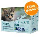 Lot mixte Bozita Bouchées en sauce 12 x 85 g pour chat