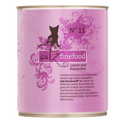 Lot mixte catz finefood 6 x 800 g pour chat