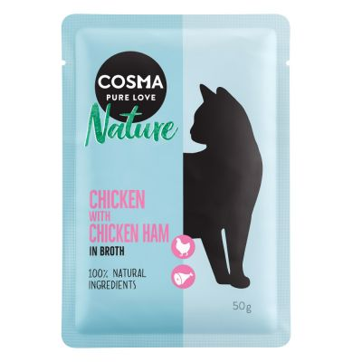 Lot mixte Cosma Nature 36 x 50 g  pour chat