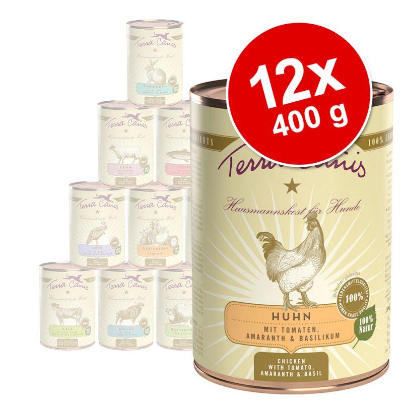 Lot mixte de boîtes Terra Canis 12 x 400 g pour chien