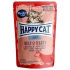 Lot mixte de sachets fraîcheur Happy Cat 12 x 85 g pour chat