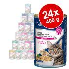 Lot mixte Feline Porta 21 24 x 400 g pour chat