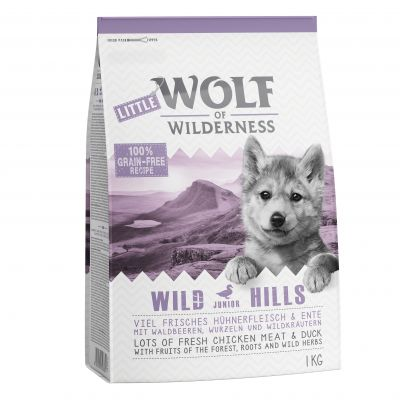 Lot mixte Little Wolf of Wilderness Junior 2 x 1 kg pour chiot