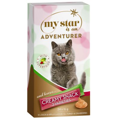 Lot mixte My Star is an Adventurer Crème Superfood pour chat