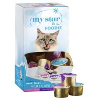 Lot mixte My Star Milky Cups pour chat
