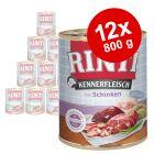 Lot mixte Rinti 12 x 800 g, 4 sortes pour chien