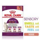 Lot mixte Royal Canin Sensory en sauce pour chat