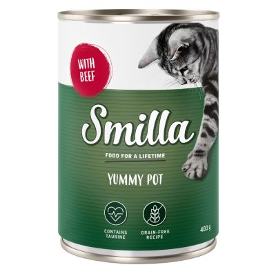 Lot mixte Smilla  dinde, poulet, boeuf 60 x 400 g pour chat