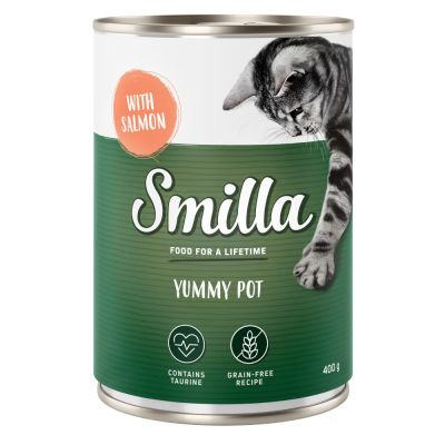 Lot mixte Smilla poulet, bœuf, saumon 60 x 400 g pour chat