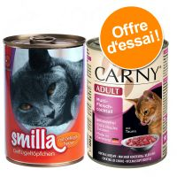 Lot mixte Smilla Volaille & Animonda Carny pour chat