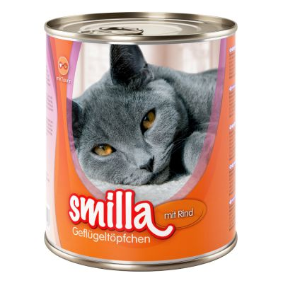 Lot mixte Smilla volaille 6 x 800 g pour chat