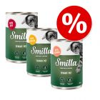 Lot mixte Smilla Yummy poulet, bœuf, saumon 60 x 400 g pour chat