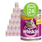 Lot mixte Whiskas Adult 1+ 24 x 400 g