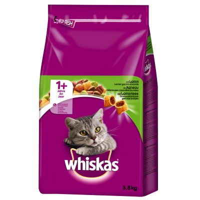 Lot mixte Whiskas 2 x 3,8 kg pour chat