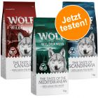 """Lot mixte Wolf of Wilderness Adult """"The Taste Of"""" pour chien"""