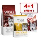 Lot mixte Wolf of Wilderness 5 kg pour chien : 4 + 1 offert !
