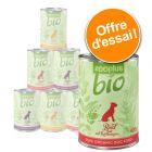 Lot mixte zooplus Bio 6 x 400 g pour chien