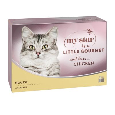 Lot My Star is a little Gourmet Mousse 48 x 85 g pour chat