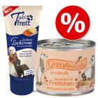 Lot Nourriture humide Greenwoods + Pâte au saumon Tubifrett pour furet