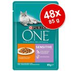Lot Purina ONE 48 x 85 g pour chat