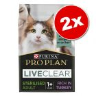 Lot PURINA PRO PLAN LiveClear 2 x 1,4 / 2,8 kg pour chat