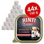 Lot RINTI Feinest 44 x 150 g pour chien