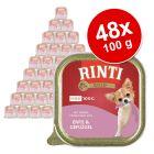 Lot RINTI Gold Mini 48 x 100 g pour chien