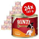Lot RINTI Gold 24 x 185 g pour chien