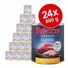 Lot Rocco Classic 24 x 800 g pour chien