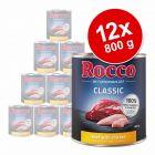 Lot Rocco Classic 12 x 800 g pour chien
