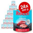 Lot Rocco Junior 24 x 800 g pour chien