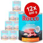 Lot Rocco Junior 12 x 800 g pour chien
