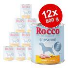 Lot Rocco Sensitive 12 x 800 g pour chien