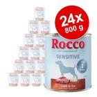 Lot Rocco Sensitive 24 x 800 g pour chien
