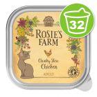 Lot Rosie's Farm Adult 32 x 100 g pour chat