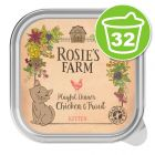 Lot Rosie's Farm Kitten 32 x 100 g pour chaton