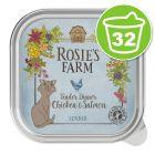 Lot Rosie's Farm Senior 32 x 100 g pour chat