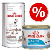 Lot Royal Canin Babydog milk 2kg + Starter Mousse 12 x 195g