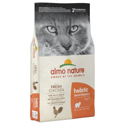 Lot 2 saveurs Almo Nature Holistic Adult 2 x 2 kg