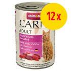 Lot 4 saveurs Animonda Carny Adult 12 x 400 g