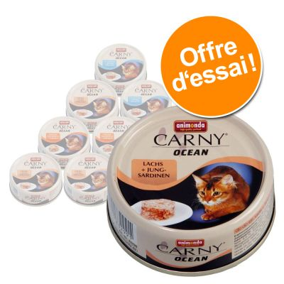 Lot 4 saveurs Animonda Carny Ocean 12 x 80 g